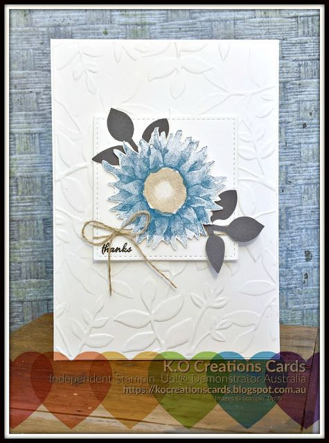 KOCreations Stampin' Up! Blog: Crazy Crafters Blog Hop with Stesha Bloodhart, Giving Thanks, Painted Harvest bundle, Card Making, Stampin' Up!, Embossing, DIY, Gifts, Thank You