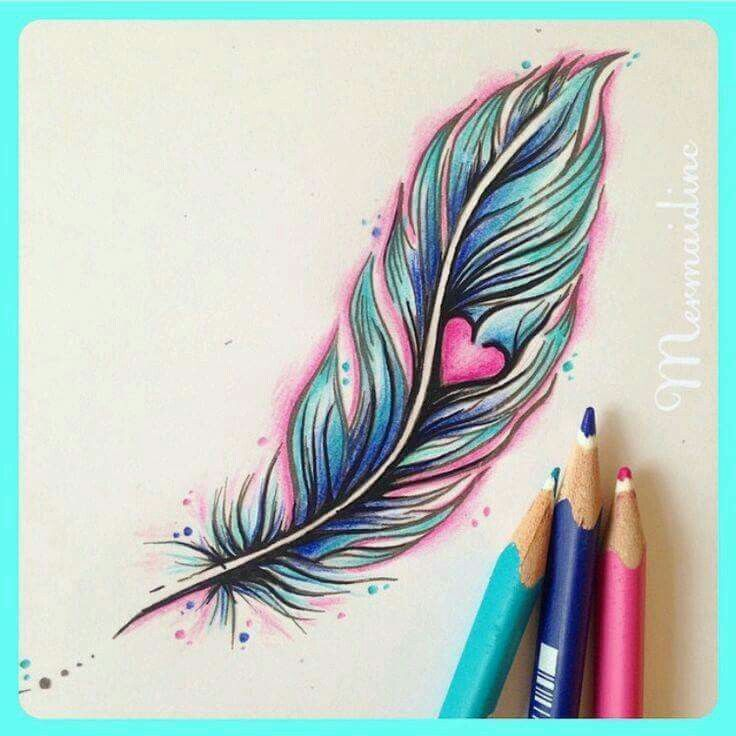 Image result for feather with heart tattoo meaning