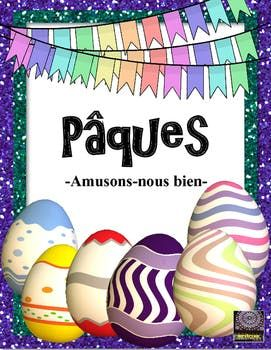 """FRENCH - This 8 page product includes a list of vocabulary (use it for a great game of classroom Pictionary), a decoding worksheet with abstract """"codes"""" and a second decoding worksheet with smaller expressions pertaining to Easter. Answer keys are all included for"""