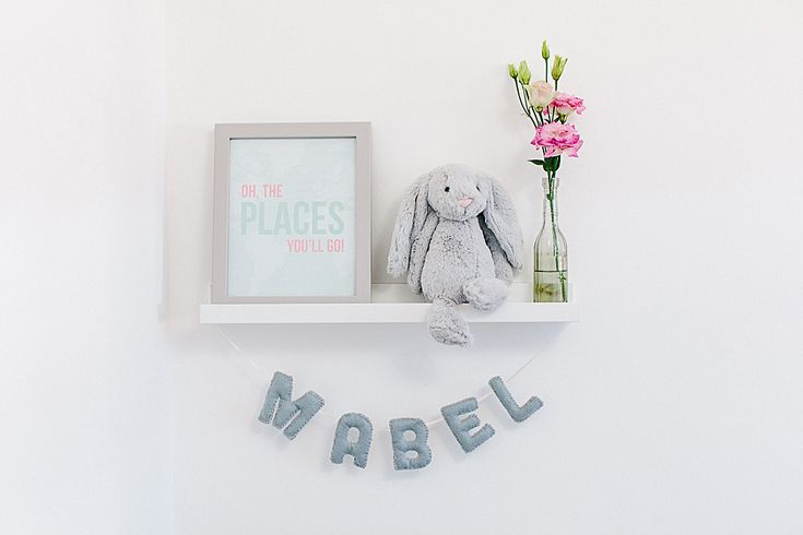 Name Garland | Modern stylish and budget decor and furniture ideas for your nursery