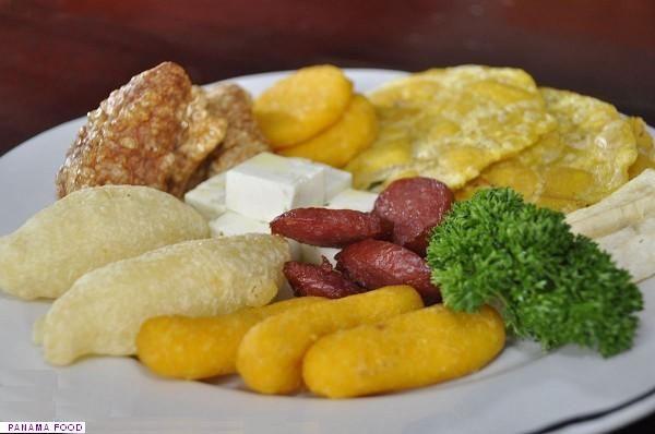 Panamanian Carimañolas, hojaldras, tortilla, chorizo, cheese, chicharron, delicious.