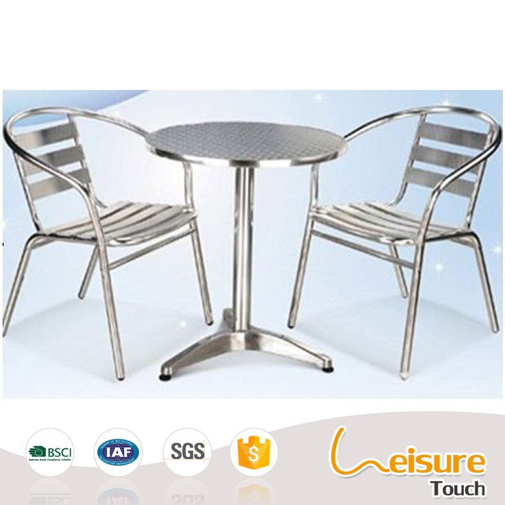outdoor beach cafe aluminum patio chair and table furniture for sale