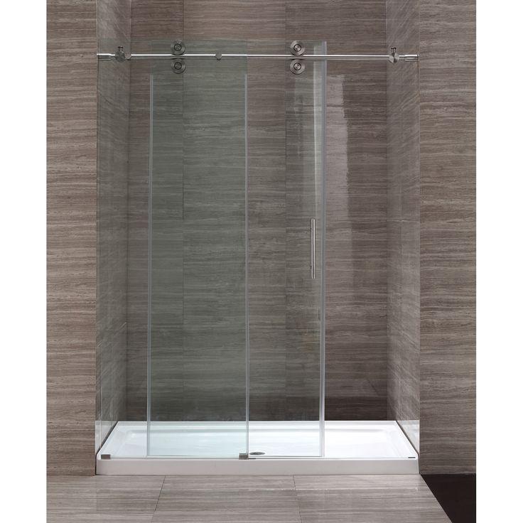 Tile Ready Shower Pan For Your Bathroom Ideas: Tile Ready Shower Pan With 60 Inch Glass Shower Enclosure