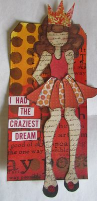 Playing with {Prima} Paper Dolls | The Scrappy Chick #Splash of Color #Silks acrylic glaze