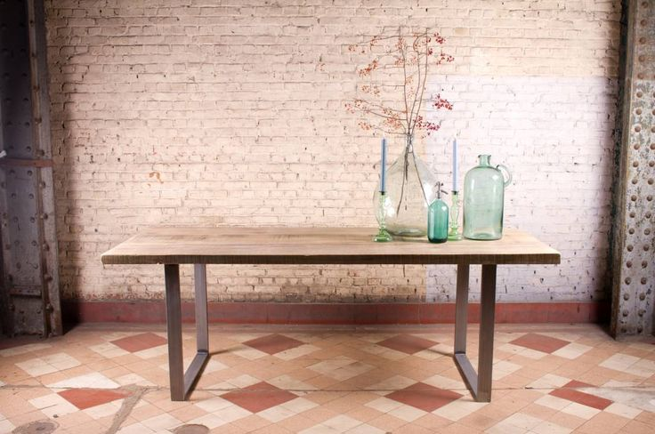PURE industriele tafel ruw staal
