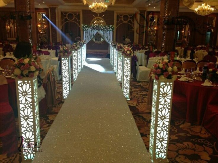 Wholesale Wedding Carved Pillar Without Light Wedding Supplies Hollow Out  Wedding Road Lead Wedding Decoration()