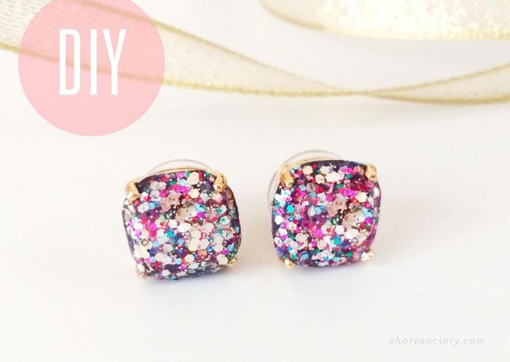 Kate Spade Glitter Studs DIY - because the real ones have disappeared from the face of the earth.