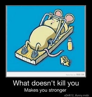 What doesn't kill you, makes you stronger!