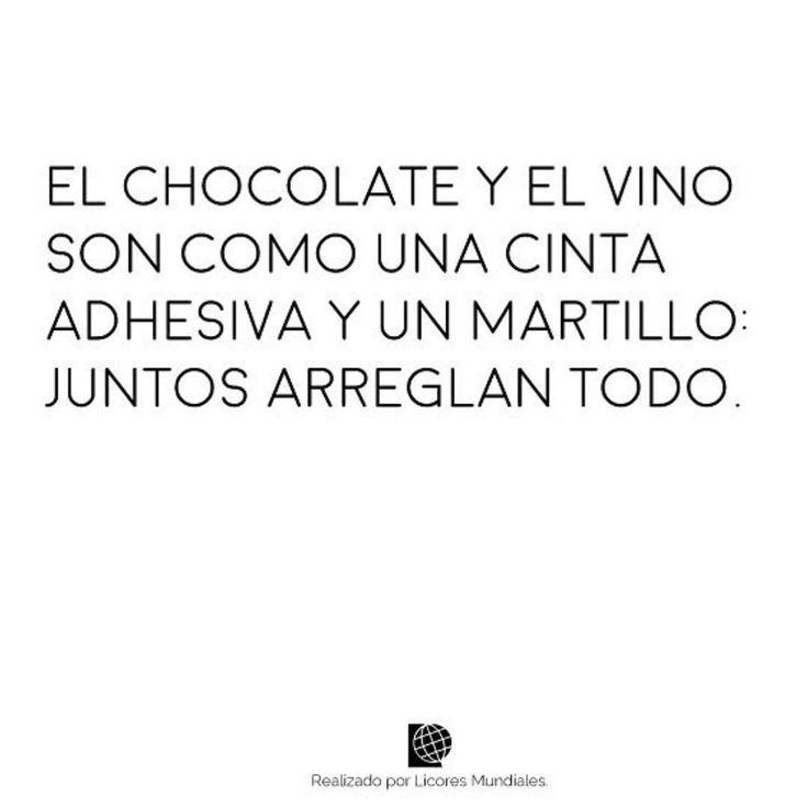 El chocolate y el Vino!