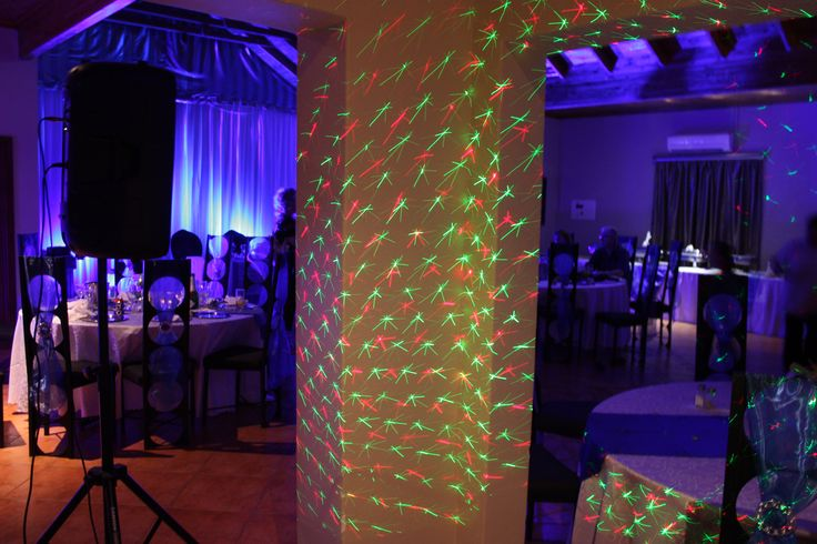 Setting up for a disco party