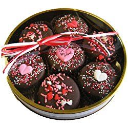 Chocolate Dipped Oreo Cookies decorated with Hearts & Be Mine for Valentine's Day - 7 Oreo Assortment