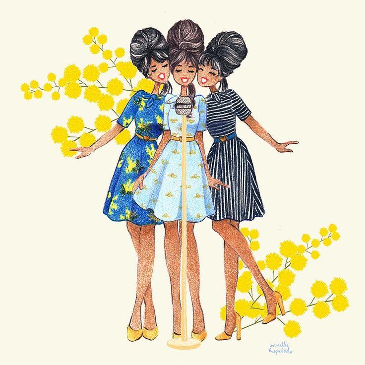 """Maëlle Rajoelisolo - J'ai imaginé le fameux groupe '60s The Ronettes porter les robes de la dernière collection Wear Lemonade puisqu'elle s'intitule """"Bee my Baby"""""""