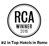 #2 TOP HOTEL in ROME by Condé Nast Traveler Readers' Choice 2016