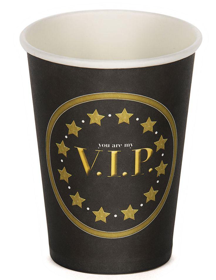 8 Bicchieri di carta VIP 25 cl su VegaooParty, negozio di articoli per feste. Scopri il maggior catalogo di addobbi e decorazioni per feste del web,  sempre al miglior prezzo!