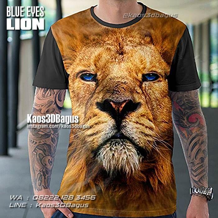 Kaos SINGA, Kaos KEPALA SINGA, Kaos3D, Kaos Harimau, Kaos Macan, Blue Eyes Lion, Kaos Tiger, Kaos Lion, https://kaos3dbagus.wordpress.com, WA : 08222 128 3456, LINE : Kaos3DBagus