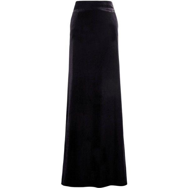 Velvet Maxi Skirt found on Polyvore featuring polyvore, women's fashion, clothing, skirts, faldas, long skirts, velvet maxi skirt, floor length skirts, velvet skirt and maxi skirt