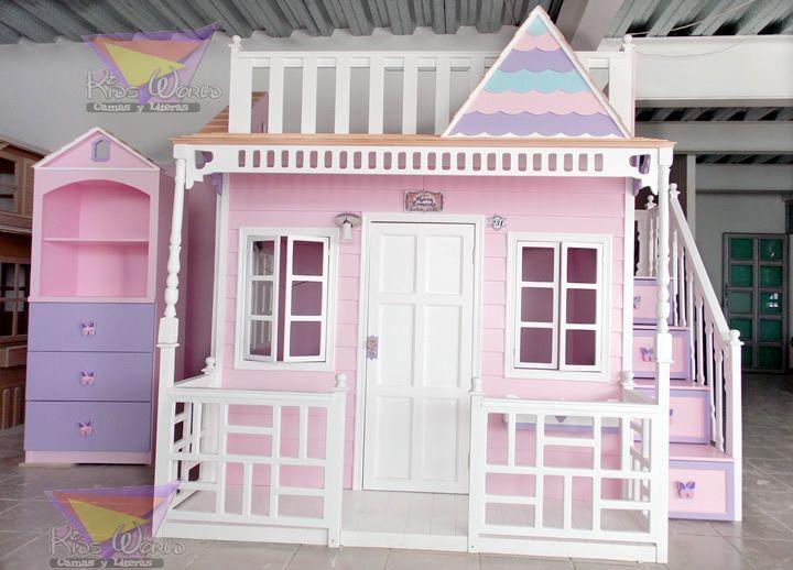 47 mejores im genes sobre decoraci n de habitaci n en - Camas de casita para ninas ...