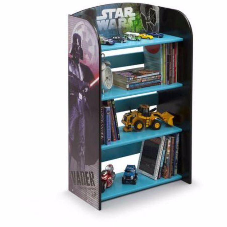 Kids Bedroom Furniture Children Star Wars Bookshelf 4 Shelves Storage New |  EBay
