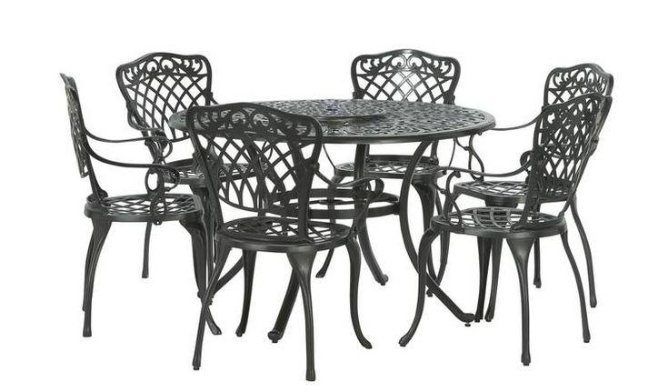 Garden Table And Chair Sets, Argos Home Kensington Cast Aluminium 2 Seater Garden Bench