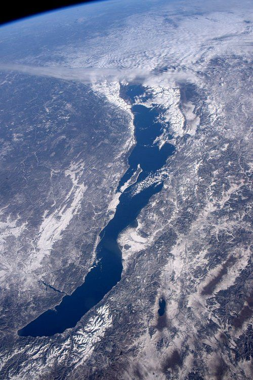 Байкал из космоса //Japanese astronaut Yui Kimiya photograph of Lake Baikal from space