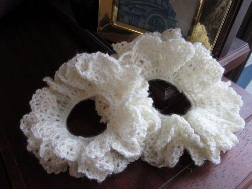 フリルレースの女の子ニットシュシュ #72の作り方|編み物|編み物・手芸・ソーイング | アトリエ|手芸レシピ16,000件!みんなで作る手芸やハンドメイド作品、雑貨の作り方ポータル