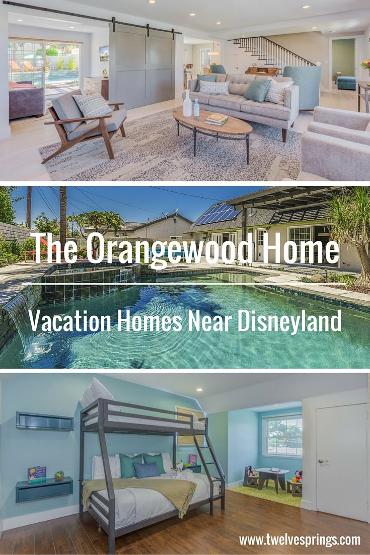 Beautiful and affordable Anaheim vacation homes near Disneyland. | The Orangewood Home by Twelve Springs has 5 bedrooms, 3 bathrooms, a pool, hot tub, game room, and an outdoor bar, grill, and mini fridge.