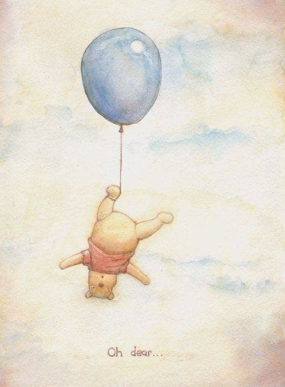 Pooh and his balloon