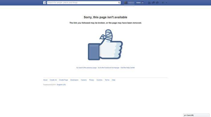facebook.com 404 error page
