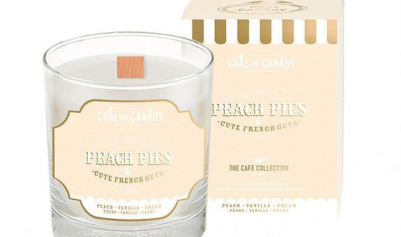 Peach Pies and Cute French Guys Candle - Candle by Coal and Canary.