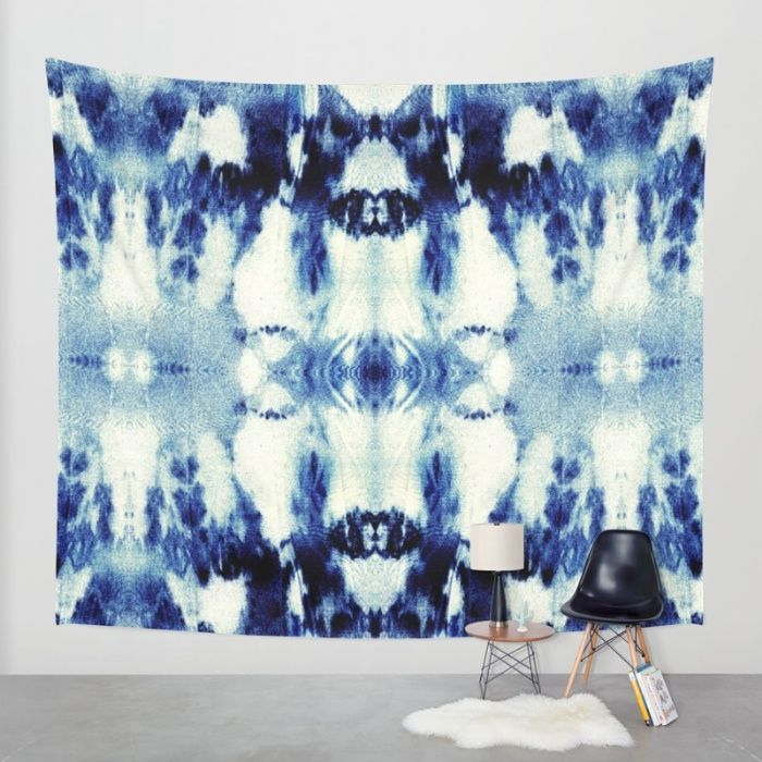 Buy Tie Dye Blues Wall Tapestry by Nina May Designs. Worldwide shipping available at Society6.com. Just one of millions of high quality products available.