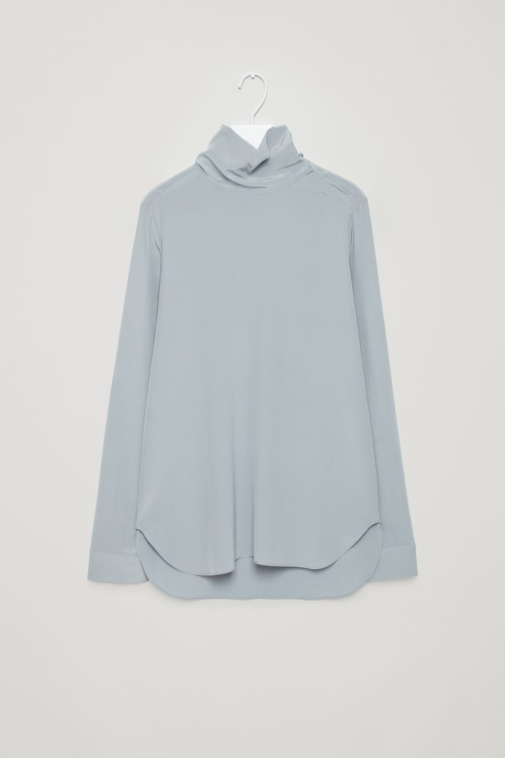 COS | High-neck silk blouse