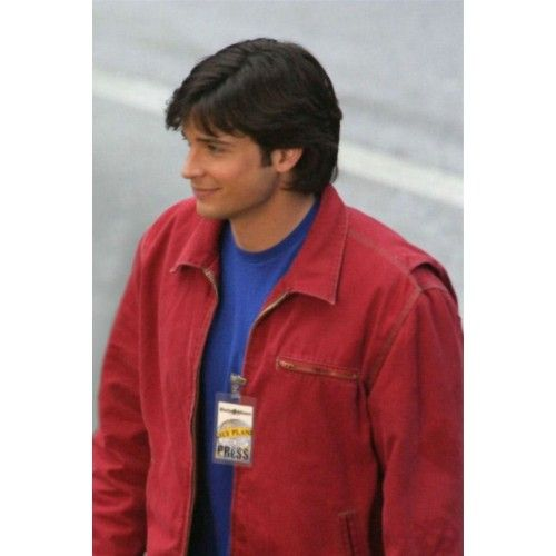 Smallville Clark Kent Red Suede Jacket #Smallville #ClarkKentJacket #MovieJackets #Clothes #Outfit #superman