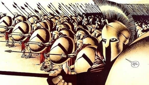 The original THIS IS SPARTA, 300 by Frank Miller is an epic retelling of the Battle of Thermopylae. You can get the novel here!