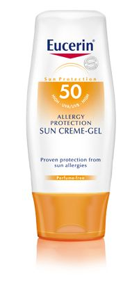 Eucerin: Sun Allergy Protection Sun Creme-Gel SPF 50 - get the AGR one from http://www.farmaline.co.uk for £16 inc shipping
