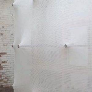 "Kinetic Wall by Barkow Leibinger explores ""utopian dream of moving architecture"" On show for the first time at the biennale, Barkow Leibinger's Kinetic Wall is designed to ""revisit the utopian dream of an architecture that can move"", creating an ever-changing surface that rhythmically expands and contracts."