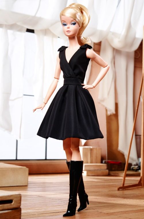 Classic Black Dress | Silkstone Barbie | 1st articulated Silkstone | ©2016 Mattel, Inc