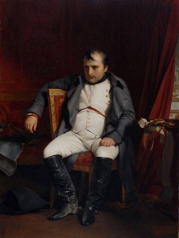 "Paul Delaroche: ""Napoléon Bonaparte abdicated in Fontainebleau"" 1845 oil on canvas Museum der bildenden Künste Leipzig"