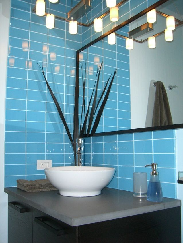 Baby Blue Subway Tiles Bathroom Look At The Light Oh Im In Love - Baby-blue-bathroom-tile