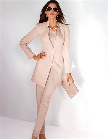 Womens Pink Trouser Suit