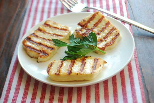 Grilled Halloumi Cheese Recipe - Works with any cheese that has a high melting point, just place directly on the grill! Makes and amazing crispy, melty grilled cheese without the bread.
