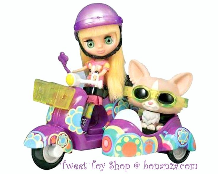 Blythe Doll with her Zippy Scooter Vespa Motorbike and her Corgi Pet Dog Retired LPS Littlest Pet Shop Toy Set Brand New in Box The possibilities are practically endless with a speedy scooter vehicle like this! This Zippy scooter vehicle is the perfect transportation for your fashionable Blythe figure and her Corgi pet dog! Fantastic FUN Gift Idea! http://www.bonanza.com/listings/NEW-LPS-Littlest-Pet-Shop-Blythe-Doll-Scooter-Vespa-Motorbike-Corgi-Dog-Playset/168606917