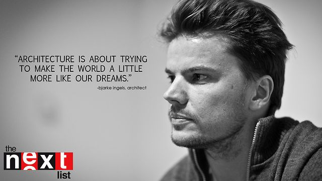 Bjarke Ingels, Architect -- PART 1 by THE NEXT LIST. Bjarke Ingels is a Danish architect who heads the Bjarke Ingels Group. He is committed to 'pragmatic utopian architecture' and views his work as a way to give back to society and re-imagine the future. His designs can be seen around the world from Asia to the Manhattan skyline.