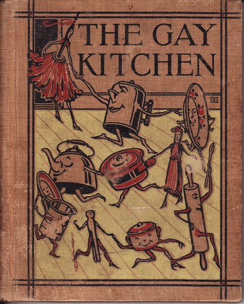 Dancing dishes, dusters, pots, and kettles! Oh, to have such a gay kitchen!