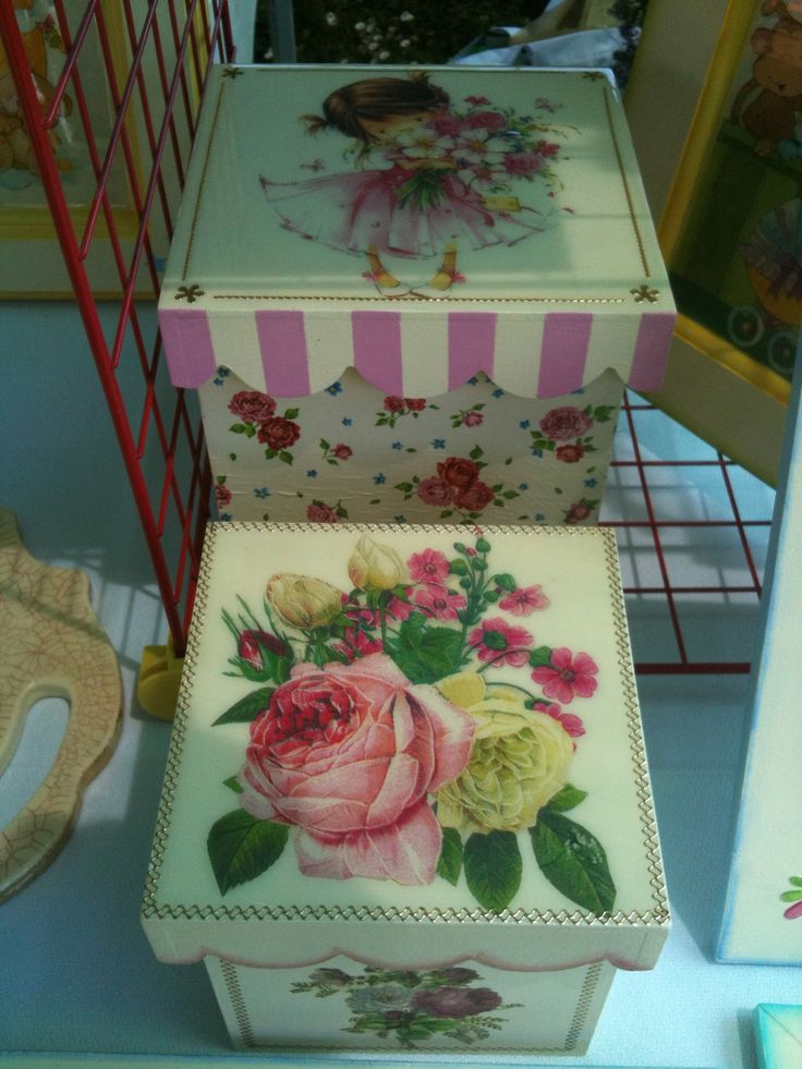 Caja Niña Flores Caja Rosas