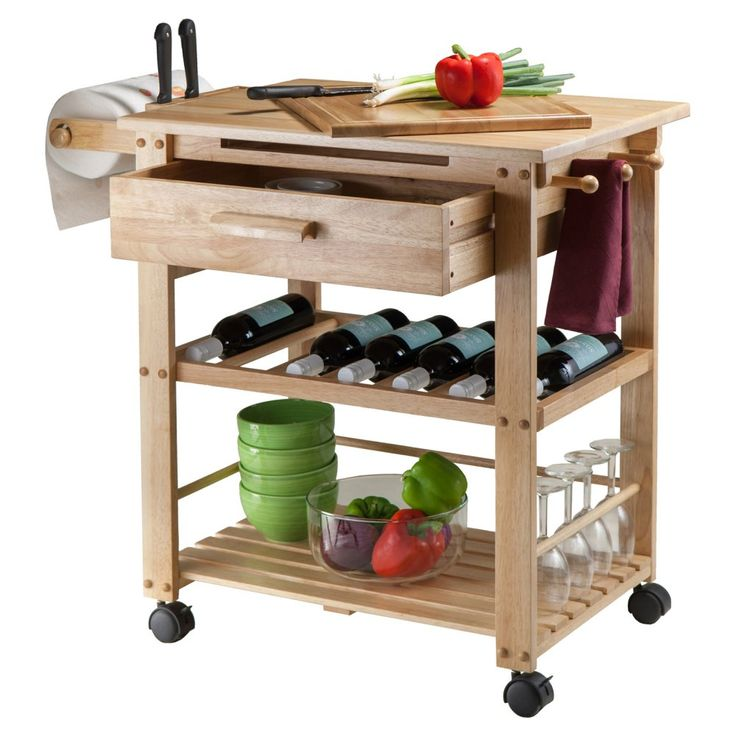 Finland Kitchen Cart - Bring some Scandinavian simplicity and efficiency to your kitchen with the Finland Kitchen Cart . Offering spare counter space and a bevy of storage...