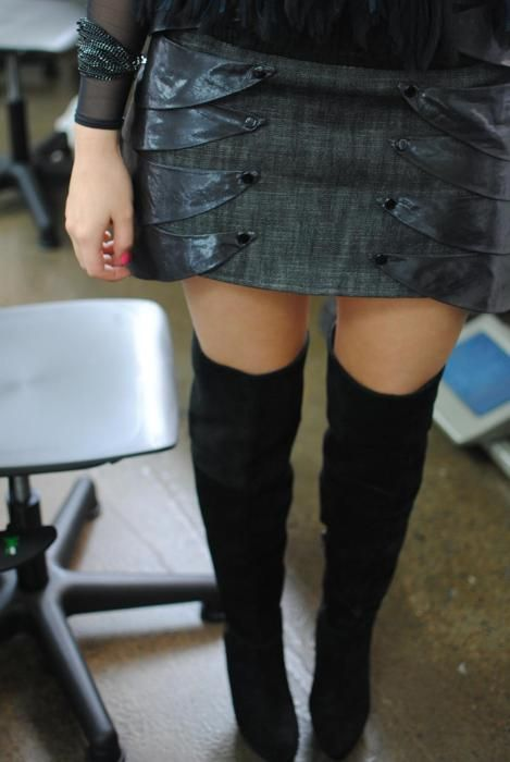 Metal Mix: Skirt by Samantha Aravopoulos