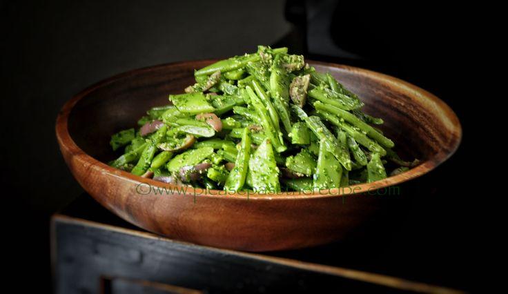 Parsley Pesto Dressed Romano Bean Salad | Please Pass the Recipe