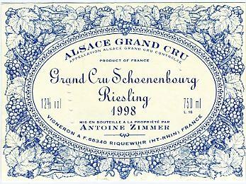 Riquewihr Zimmer Schoenenburg Un de mes vins préférés à Riquewihr