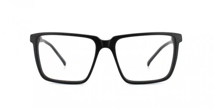 70'S BOY I Large square shape reminiscent of the 70´s. The thin cut of the acetate keeps the look light and elegant.  Black on the outside. Grey inside.