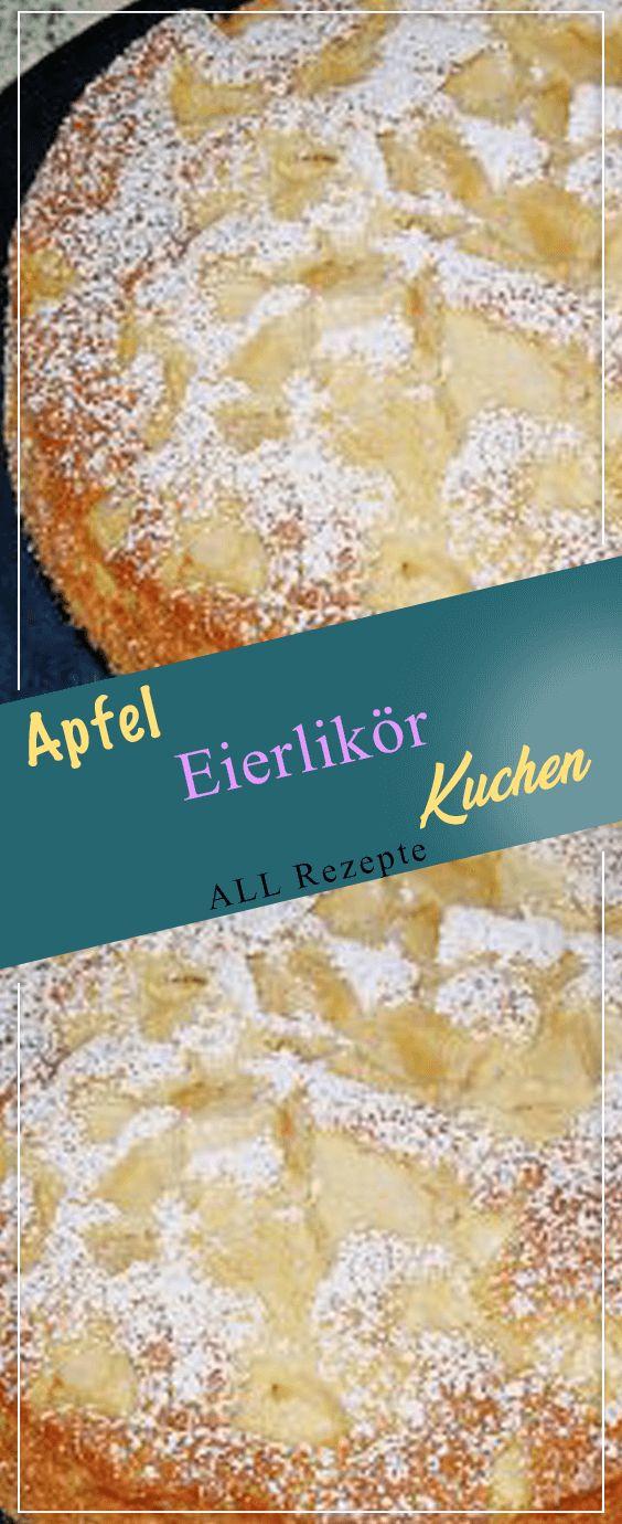 Apfel Eierlikör Kuchen. # Kochen #Rezepte #einfach # köstlich